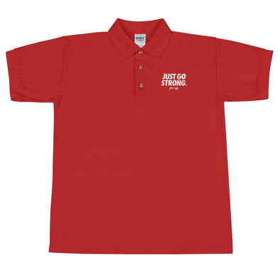 Just Go Strong Men's Polo Shirt - Power Words Apparel