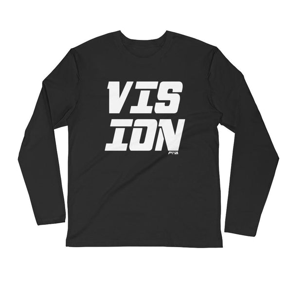 VISION Men's Long Sleeve Fitted Crew - Power Words Apparel