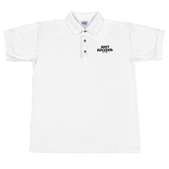 Just Succeed Men's Polo Shirt - Power Words Apparel