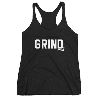 Grind Women's Racerback Tank - Power Words Apparel