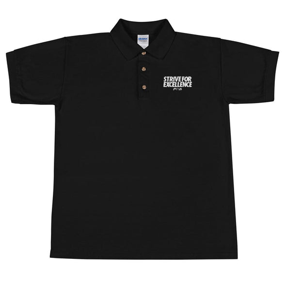Strive For Excellence Men's Polo Shirt - Power Words Apparel