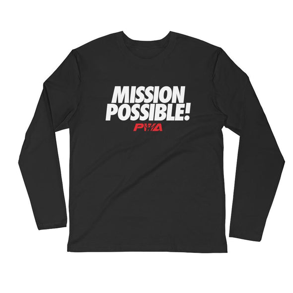 Mission Possible Long Sleeve Fitted Crew - Power Words Apparel