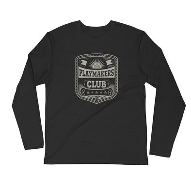 Playmaker's Club Men's Long Sleeve Fitted Crew - Power Words Apparel