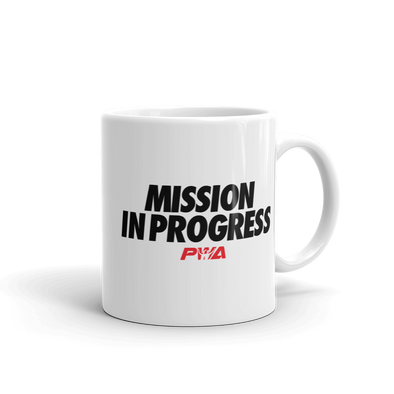 Mission in Progress Mug - Power Words Apparel