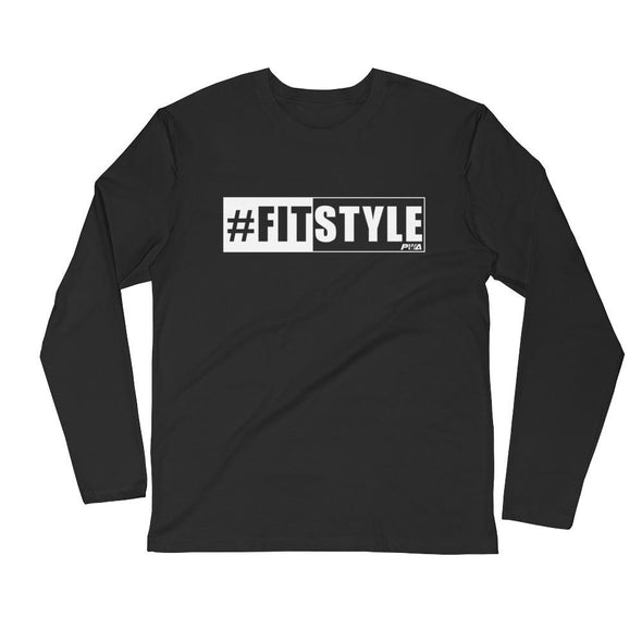 FitStyle Men's Long Sleeve Fitted Crew - Power Words Apparel