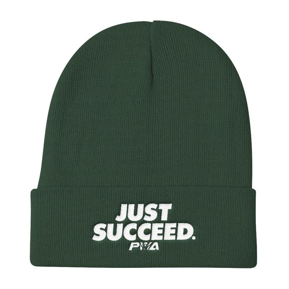 Just Succeed Knit Beanie - Power Words Apparel