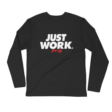 Just Work Men's Long Sleeve Fitted Crew - Power Words Apparel