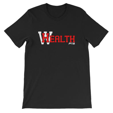 HealthWealthShort-Sleeve Unisex T-Shirt - Power Words Apparel