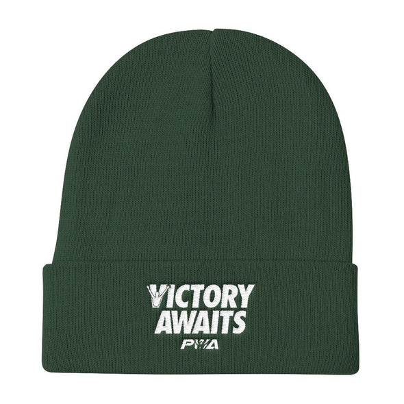 Victory Awaits Men Knit Beanie - Power Words Apparel