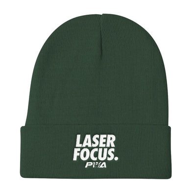 Laser Focus Knit Beanie - Power Words Apparel