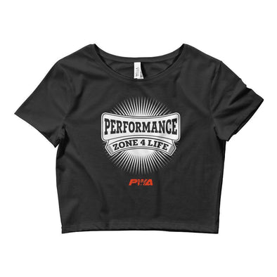Performance Zone 4 Life Crop Tee - Power Words Apparel
