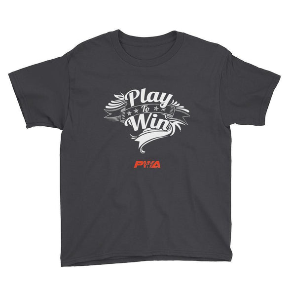 Play to win Youth Short Sleeve T-Shirt - Power Words Apparel
