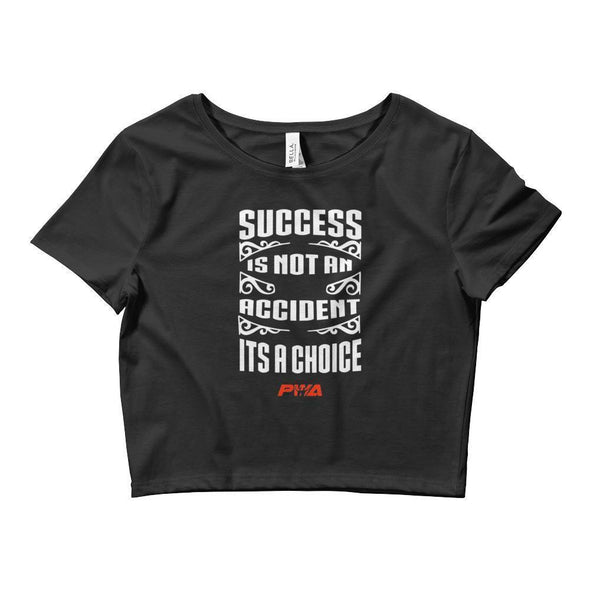 Success Its A Choice Crop Tee - Power Words Apparel