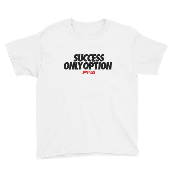 Success only option Youth Short Sleeve T-Shirt - Power Words Apparel