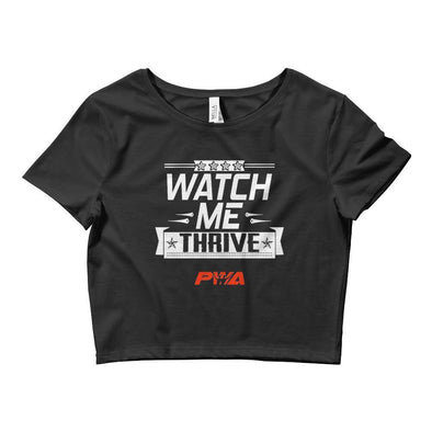 Watch Me Thrive Crop Tee - Power Words Apparel