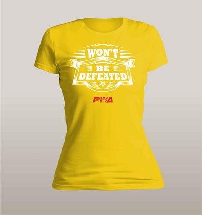 Won't be Defeated Women's - Power Words Apparel