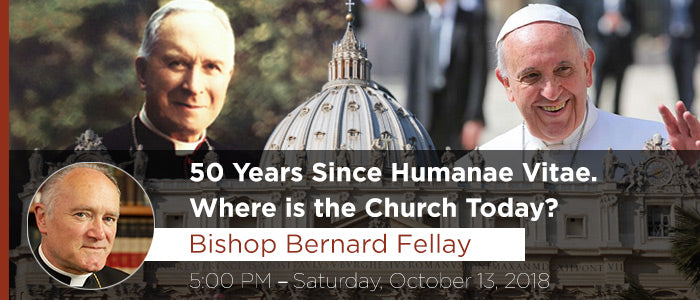 50 Years Since Humanae Vitae – Talk by Bishop Fellay