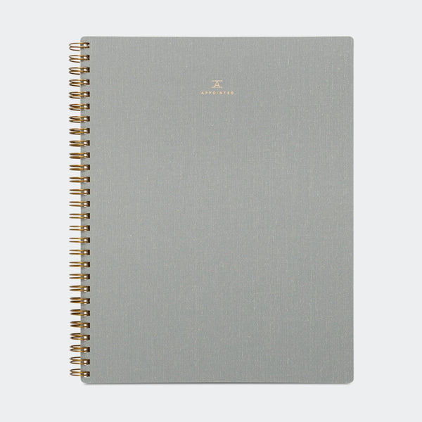 Appointed Notebook in Dove Gray Grid