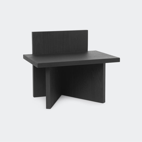 Ferm Living Oblique Stool Stained Black Ash