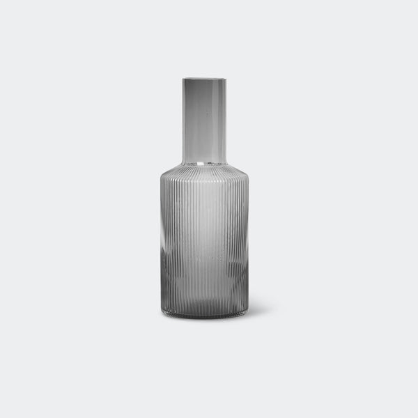 Ferm Living Ripple Carafe Smoked Grey