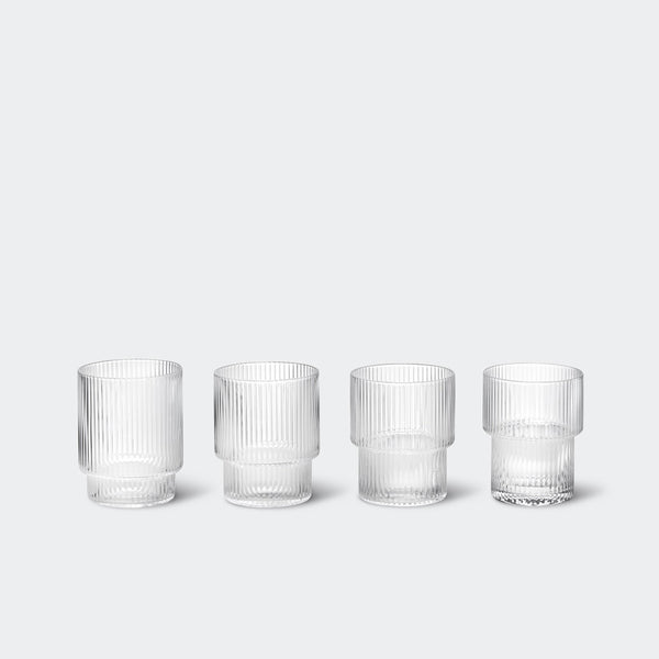 Ferm Living Ripple Glasses (Set of 4)