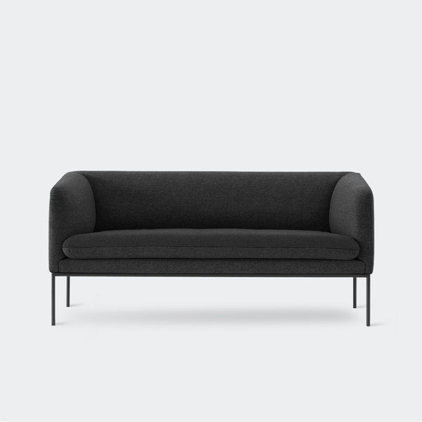 Ferm Living Turn Sofa 2 - Wool Dark Grey