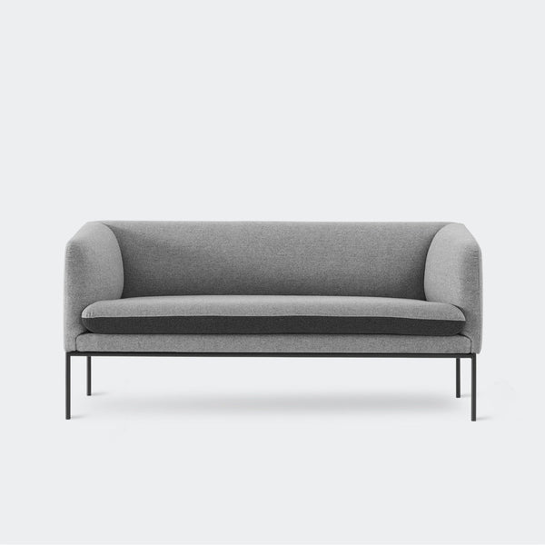 Ferm Living Turn Sofa 2 - Wool Light Grey