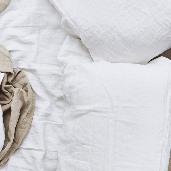 Hawkins New York Simple Linen Pillow Cases + Shams