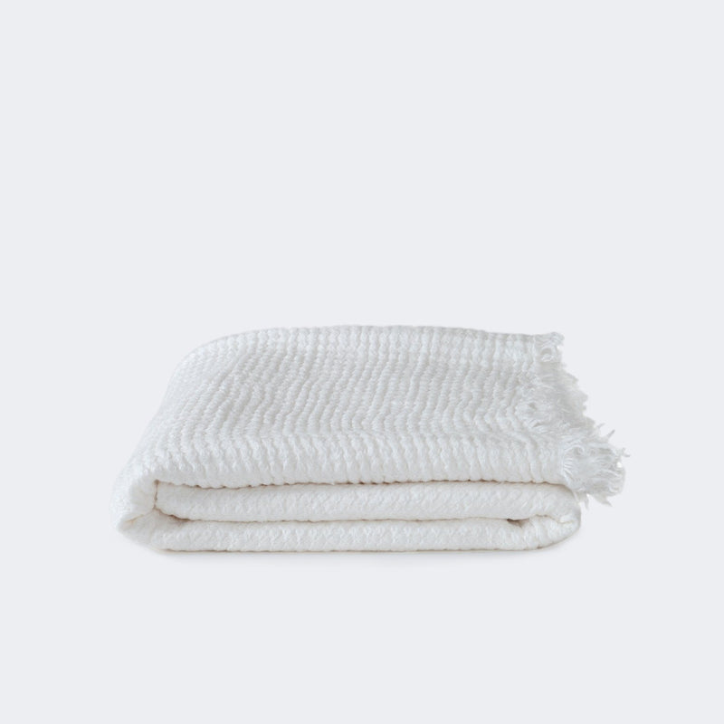 Hawkins New York Simple Linen Throw White