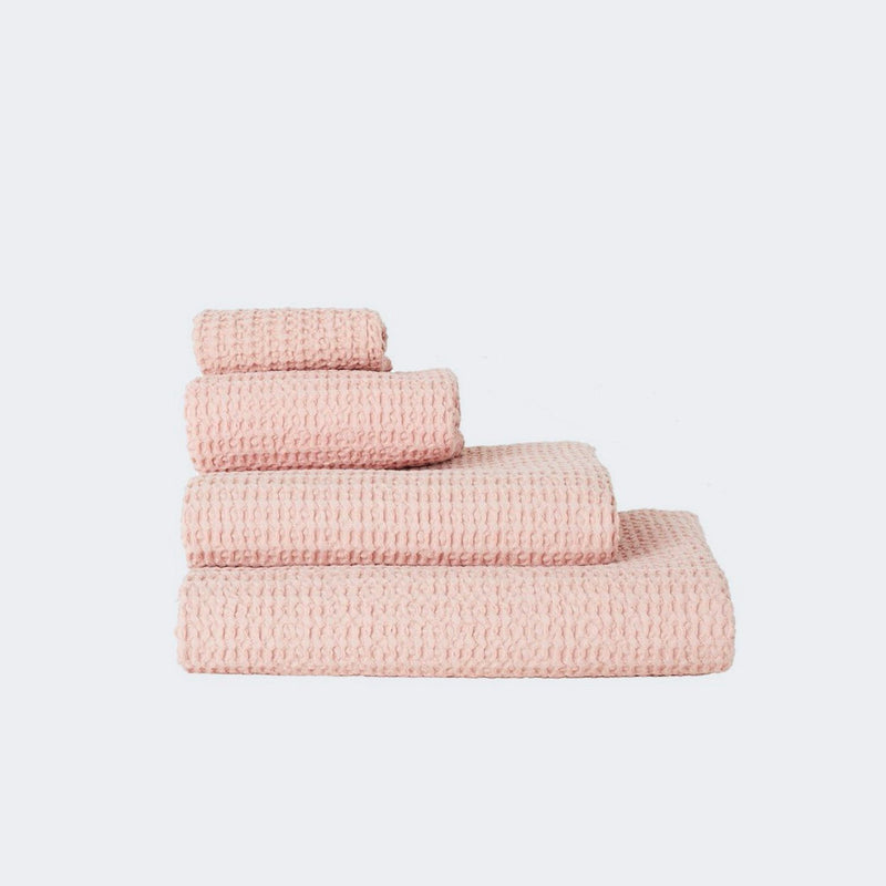Hawkins New York Waffle Towels Washcloth Blush