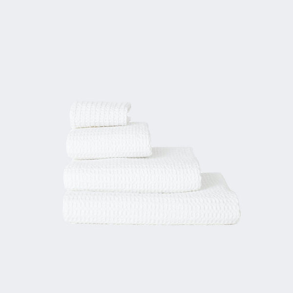 Hawkins New York Waffle Towels Washcloth White