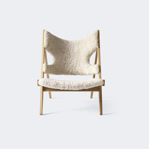 MENU Knitting Chair, Sheepskin Upholstery