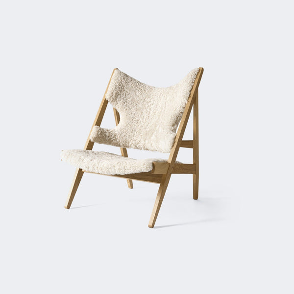 MENU Knitting Chair, Sheepskin Upholstery Moonlight