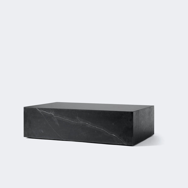 MENU Marble Plinth, Low BLACK MARBLE MARQUINA