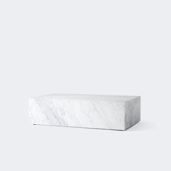 MENU Marble Plinth, Low WHITE MARBLE CARRARA