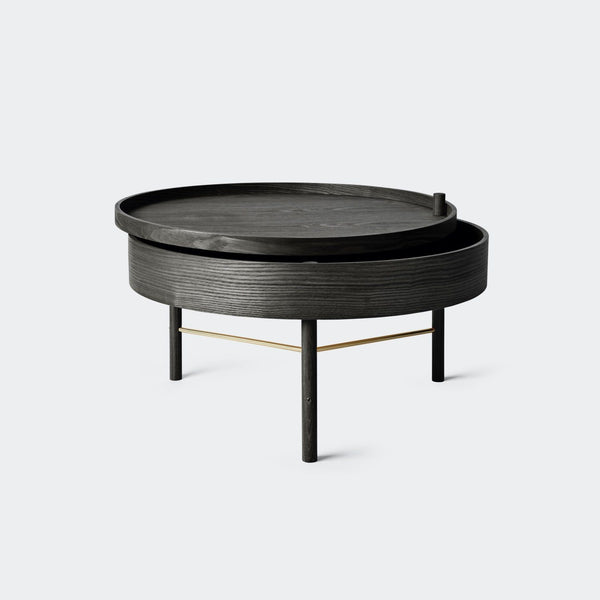 MENU Turning Table Black Ash & Brass