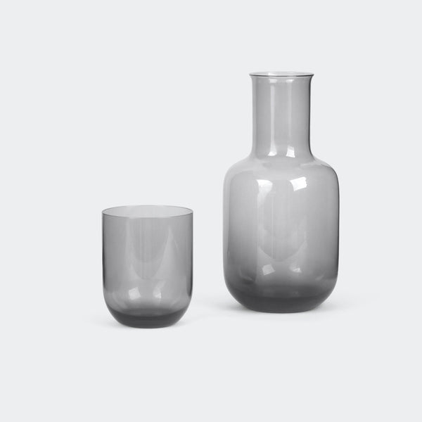 Toyo-Sasaki Glass Night Carafe in Gray