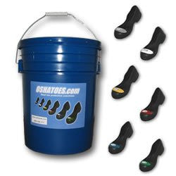 Visitor Bucket 9 Pair Assorted Safety Toes (Classic PVC and 100% Rubber)