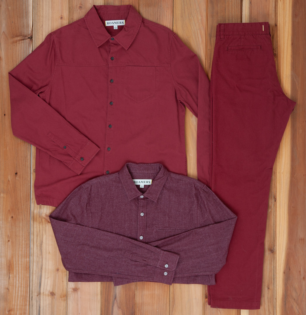 Burgundy / Plaid