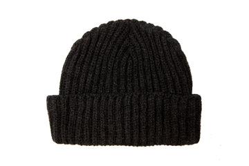 Fisherman's Wool Beanie in Rich Navy-Roamers Brand