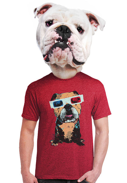 3d bulldog t-shirt