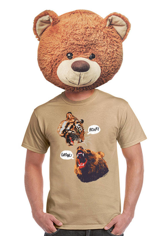 grizzly bear vs tiger t-shirt