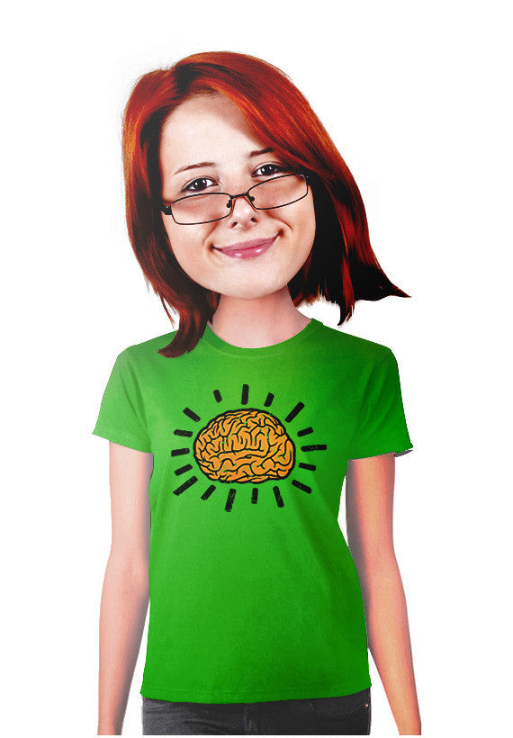 atomic brain women t-shirt