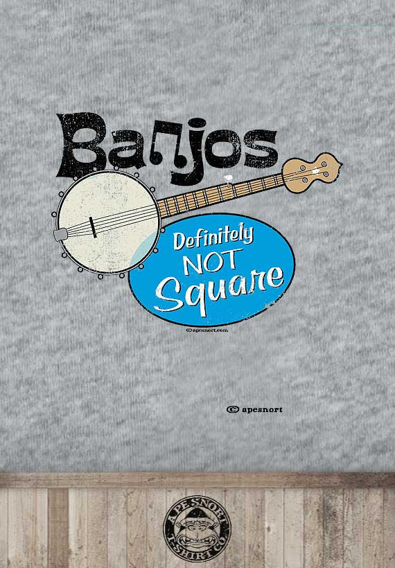 banjo are not square unisex t-shirt