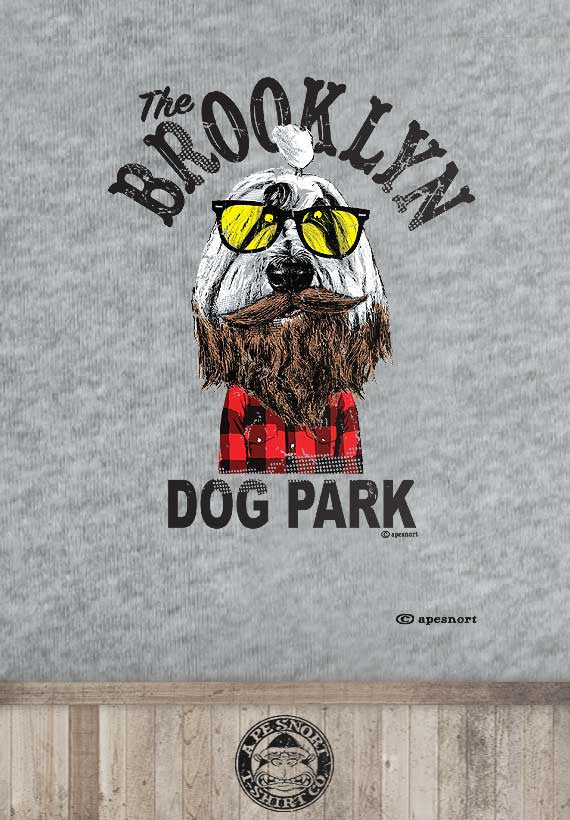 brooklyn dog park kids t-shirt