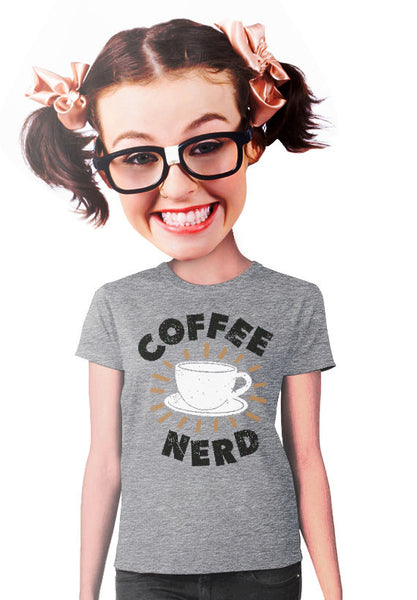 coffee nerd women t-shirt
