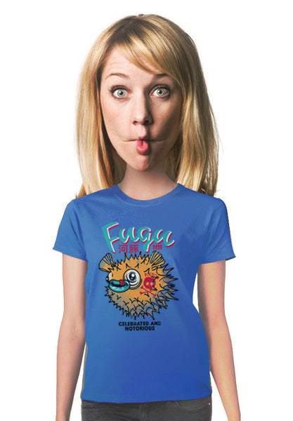 fugu blowfish womens t-shirt