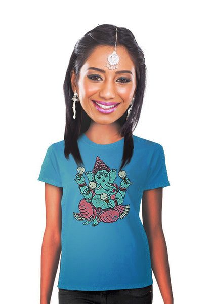 ganesha ice cream elephant womens t-shirt