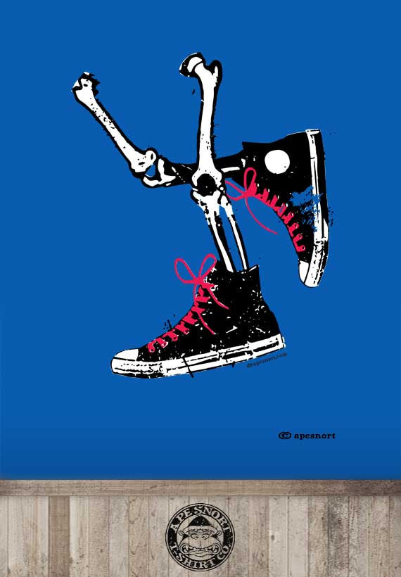 high tops and bones unisex t-shirt