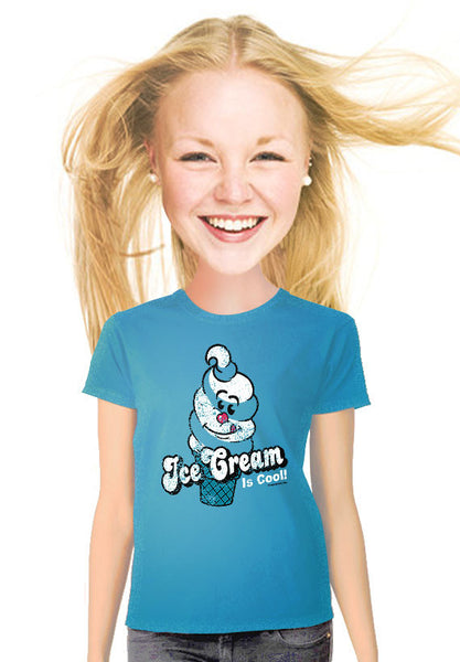 ice cream is cool womens t-shirt